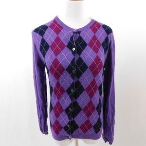 Burberry Purple Cardigan